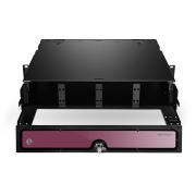 2U Rack Mount HD Fiber Enclosure Unloaded, Holds up to 8x Fiber Adapter Panels or 8x MPO/MTP Cassettes