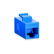 Cat6 RJ45 (8P8C) Unshielded Coupler Keystone Insert Module - Blue