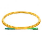 2m (7ft) LC APC to SC APC Simplex 2.0mm PVC (OFNR) 9/125 Single Mode Fiber Patch Cable