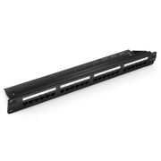 24 Ports Cat5e Unshielded 110 Punch Down Patch Panel, 1U Rack Mount