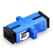 SC/UPC to SC/UPC Simplex Single Mode Plastic Fiber Optic Adapter/Mating Sleeve with Flange