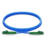 Jumper de fibra óptica 3m (10ft) LC APC a LC APC dúplex monomodo blindado PVC (OFNR)