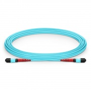 5m (16ft) MTP Female 24 Fibers Type A (TIA-568) LSZH OM3 50/125 Multimode Elite Trunk Cable, 100GBASE-SR10 CXP/CFP/CPAK, Aqua