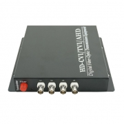 4 Channel HD-TVI over Optical Fiber Transmitter and Receiver Set