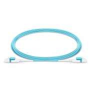 5m (16ft) LC UPC Uniboot Duplex Flat Clip 2.0mm OM4 Multimode BIF Fiber Patch Cable, PVC (OFNR)