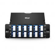 2x MTP-12 to 12x LC Duplex, Type A, 24 Fibers OS2 Single Mode FHD MTP/MPO Cassette