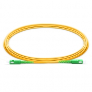 1m (3ft) SC APC to SC APC Simplex 2.0mm PVC (OFNR) 9/125 Single Mode Fiber Patch Cable