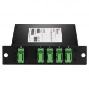 1x4 PLC Fiber Splitter, Standard LGX Cassette, SC/APC, Singlemode
