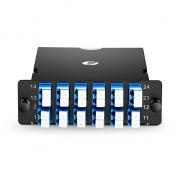 MTP-24 MPO/MTP Cassette, 24 Fibers Single Mode, LC Duplex, Type A