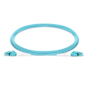 1m (3ft) LC UPC to LC UPC Switchable Uniboot Duplex OM4 Multimode PVC (OFNR) 2.0mm Fiber Optic Patch Cable
