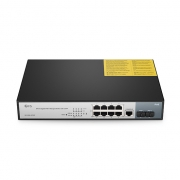 Gigabit 8-Port Switch PoE+ mit 2 SFP, 150W