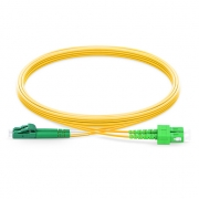 2m (7ft) LC APC to SC APC Duplex 2.0mm PVC (OFNR) 9/125 Single Mode Fiber Patch Cable