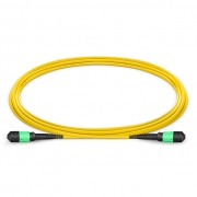 2m (7ft) MTP Female to Female 12 Fibers OS2 9/125 Single Mode Trunk Cable, Type B, Elite, Plenum (OFNP), Yellow