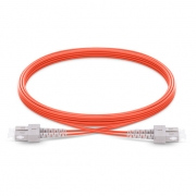 1m (3ft) SC UPC to SC UPC Duplex 2.0mm PVC (OFNR) OM1 Multimode  Fiber Optic Patch Cable