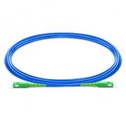 Jumper de fibra óptica 3m (10ft) SC APC a SC APC Simplex monomodo blindado PVC (OFNR)