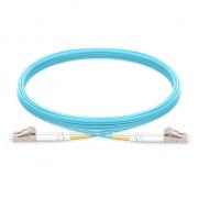 2m (7ft) LC UPC to LC UPC Duplex 2.0mm PVC (OFNR) OM3 Multimode  Fiber Optic Patch Cable