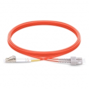 2m (7ft) LC UPC to SC UPC Duplex 2.0mm PVC (OFNR) OM1 Multimode  Fiber Optic Patch Cable