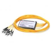 Мультиплексор CWDM Mux Demux Двухволоконный 4-Канальный, 1270-1330нм, ABS Модуль в Муфте/с Пигтейлами, FC/UPC