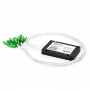 1x16 PLC Fiber Splitter, Splice/Pigtailed ABS Module, 900μm, SC/APC, Singlemode