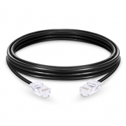 3.3ft (1m) Cat6 Non-booted Unshielded (UTP) PVC Ethernet Network Patch Cable, Black