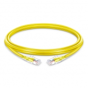 Cable de Red Ethernet Delgado RJ45 UTP Cat6 PVC CM 28AWG 1000Mbps y máximo a 10Gbps Amarillo 1ft (0.3m)