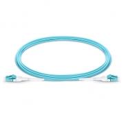 5m (16ft) LC UPC to LC UPC Duplex 2.0mm OM4 Multimode Uniboot BIF Fiber Patch Cable, PVC (OFNR)