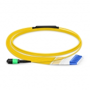8-144 Fibers OS2 Single Mode 12 Strands MPO Breakout Cable 3.0mm