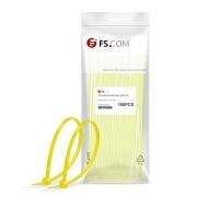 100pcs/Bag 4in.L x 0.1in.W Self-Locking Nylon Cable Ties-Yellow