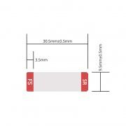 Etiqueta personalizada para transceptor 25G SFP28, 1 rollo