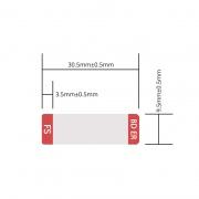 Наклейка для 25GBASE-BX BIDI SFP28 Модуля, 1 рулон