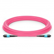 Customized MTP? PRO 8-144 Fibers MTP?-12 OM4 Multimode Elite Trunk Cable, Magenta