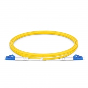 0.5m (1.6ft) LC UPC to LC UPC Duplex OS2 Single Mode PVC (OFNR) 2.0mm Fiber Optic Patch Cable