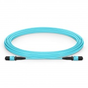 5m (16ft) MPO Female 12 Fibers Type A LSZH OM3 50/125 Multimode Elite Trunk Cable, Aqua