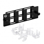 6-Port FHD Multimedia Modular Panel with 6x Plastic Clips