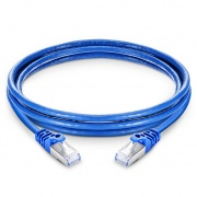 35ft (10.7m) Cat6a Snagless Shielded (SFTP) PVC CM Ethernet Network Patch Cable, Blue