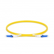 1m (3ft) CS™ UPC to CS™ UPC Duplex OS2 Single Mode PVC (OFNR) 2.0mm Fiber Optic Patch Cable, for 200/400G Network Connection