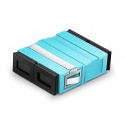 SC/UPC-SC/UPC 10G デュプレックス OM3/OM4 マルチモード プラスチック製 光ファイバアダプター/嵌合スリーブ(フランジなし、水色)