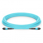 Customized MTP? PRO 8-144 Fibers MTP?-12 OM3 Multimode Elite Trunk Cable, Aqua