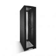 45U HR600-Series Black Server Cabinet 600x1170mm with 2 PDU Brackets and Adjustable Fixed Shelves