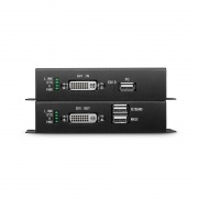4K DVI KVM USB2.0 Extender Set with Audio and EDID via Single LC Fiber for 10km