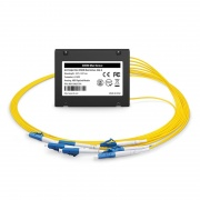 6 Channels 1271-1371nm, Single Fiber CWDM Mux Demux, Side-A, ABS Pigtailed Module, LC/UPC