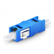 CS?/UPC to CS?/UPC Single Channel (2F) Single Mode Plastic Fiber Optic Adapter/Coupler without Flange
