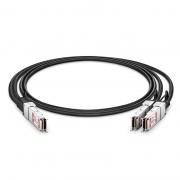 0.5m(2ft) FS Compatible 100G QSFP28 to 2x50G QSFP28 Passive Direct Attach Copper Breakout Cable