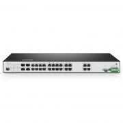 IES5100-24TF, 24-Port Gigabit Ethernet L3 Managed Industrial Switch, 24x 10/100/1000BASE-T, with 4x  1Gb SFP, Rackmount Switch,  -40 to 85°C Operating Temperature