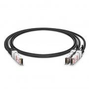 1m(3ft) FS Compatible 100G QSFP28 to 2x50G QSFP28 Passive Direct Attach Copper Breakout Cable