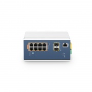 IES3110-8TF-P, 8-Port Gigabit Ethernet L2+ Managed Industrial PoE+ Switch, 8x  PoE+ Ports @240W, with 2x 1/2.5Gb SFP, DIN-Rail Switch,  -40 to 75°C Operating Temperature