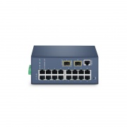 IES3110-16TF, 16-Port Gigabit Ethernet L2+ Managed Industrial Switch, 16x 10/100/1000BASE-T, with 2 x 1Gb SFP, DIN-Rail Switch,  -40 to 75°C Operating Temperature
