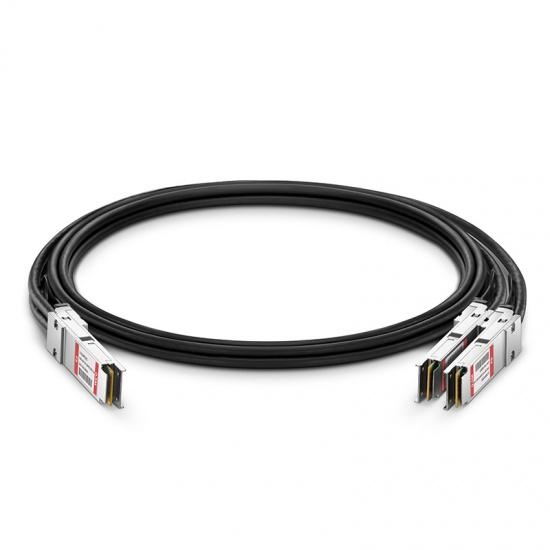 0.5m 中性(Generic)兼容400G QSFP-DD 转 2*200G QSFP56 无源铜芯高速线缆