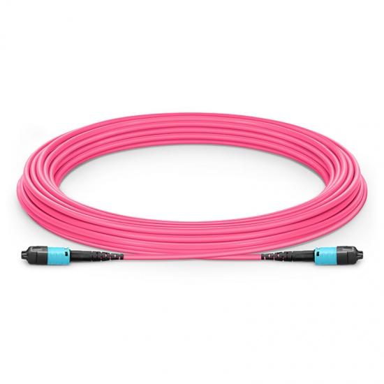 10m 12芯 US Conec MTP® PRO (公头) OM4 50/125 多模主干光纤跳线, 极性B  Plenum (OFNP)
