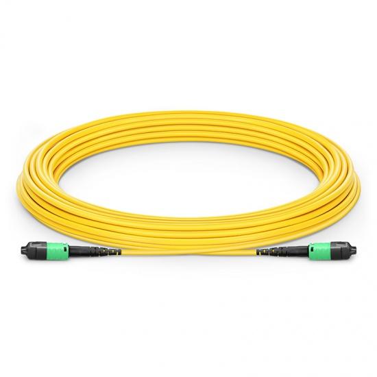 15m 12芯 US Conec MTP® PRO (公头)OS2 9/125单模主干光纤跳线, 极性B Plenum (OFNP)